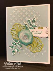 Stampin' Up! Oh So Eclectic Embossing Paste handmade card by Barbara Lash of Stamping With Barbara