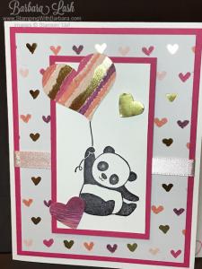Stampin' Up! Painted with Love Party Pandas handmade card by Barbara Lash of StampingWithBarbara