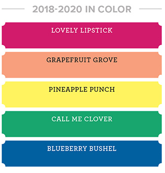 Stampin' Up! 2018-2020 in-colors