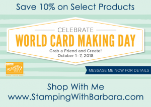 World Card Making Day sale with Stampin' Up!