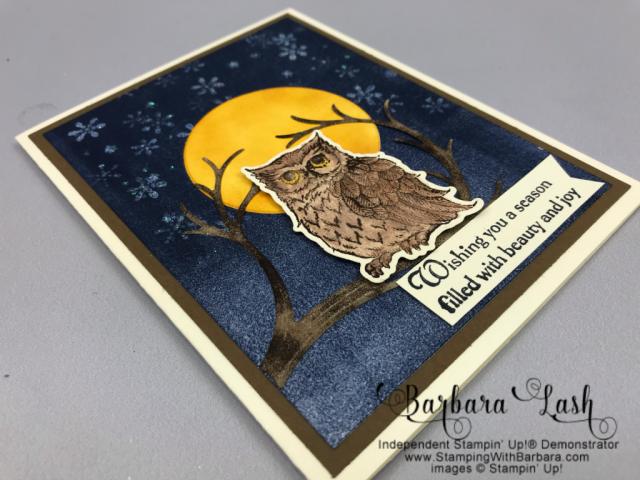 Stampin' Up! hand made Christmas card using Still Night Bundle