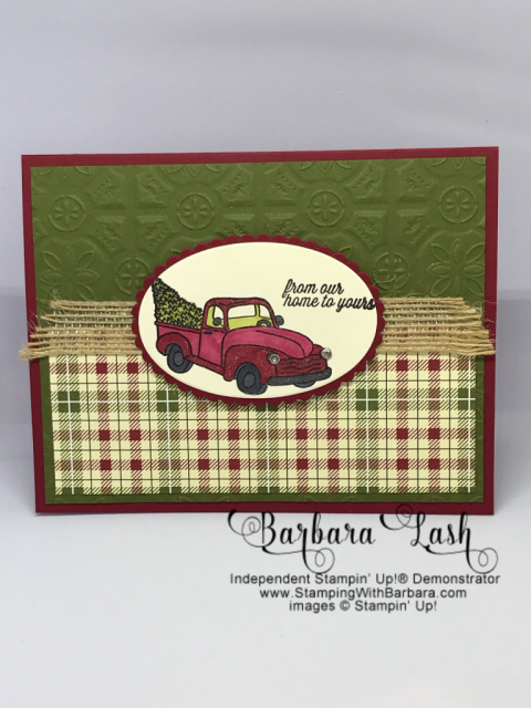 Stampin' Up! handmade Christmas card using Farmhouse Christmas