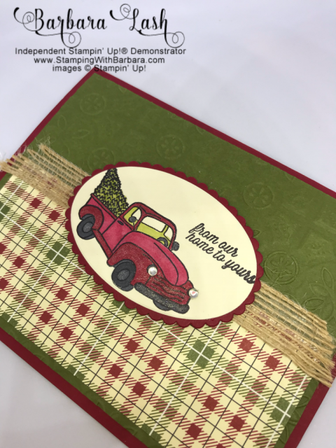 Stampin' Up! handmade Farmhouse Christmas card