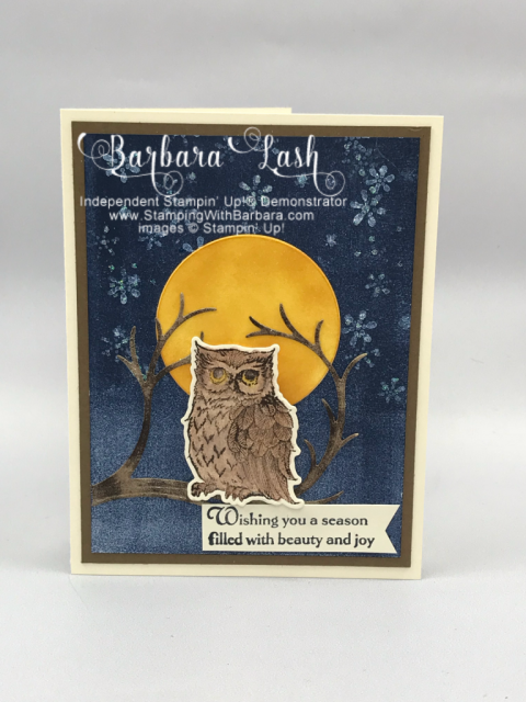Stampin' Up! hand made Christmas card using Still Night Bundle