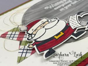 Stampin' Up! homemade Christmas card Signs of Santa Bundle