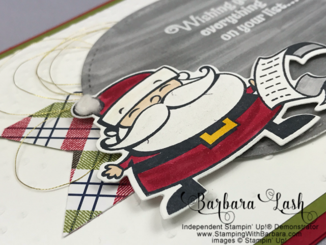 Stampin' Up! homemade Christmas card Signs of Santa Bundle