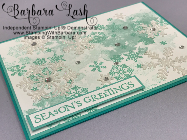 Stampin' Up! Beautiful Blizzard hand made Christmas card