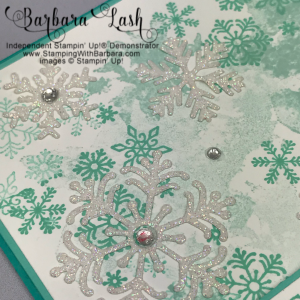 Stampin' Up! hand made Christmas card using Beautiful Blizzard Bundle