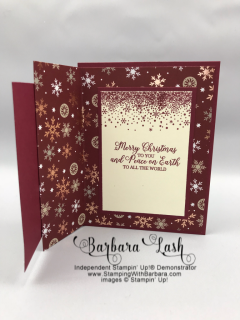Stampin' Up! hand made Christmas card Snow is Glistening promotional stamp set