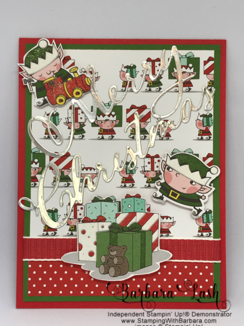 Stampin' Up! Signs of Santa card